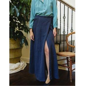 Denim Wrap and Salong Maxi Skirt